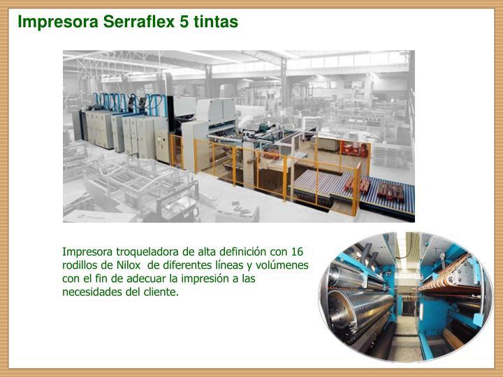 Impresora Serraflex 5 tintas
