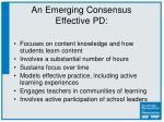 an emerging consensus effective pd