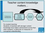 teacher content knowledge matters1
