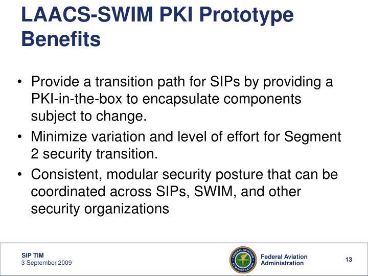 LAACS-SWIM PKI Prototype Benefits
