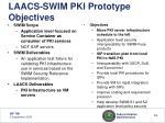 laacs swim pki prototype objectives