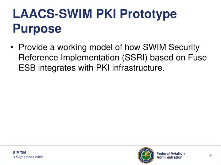 LAACS-SWIM PKI Prototype Purpose