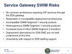 service gateway swim risks