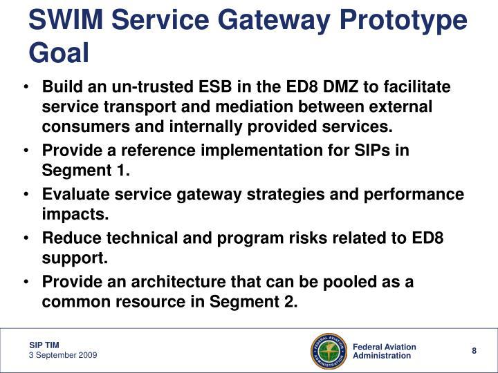 SWIM Service Gateway Prototype Goal