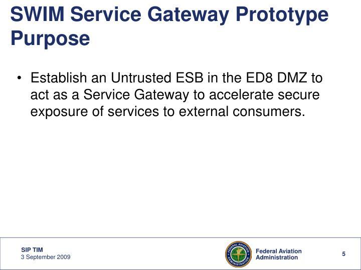 SWIM Service Gateway Prototype Purpose
