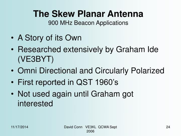 The Skew Planar Antenna