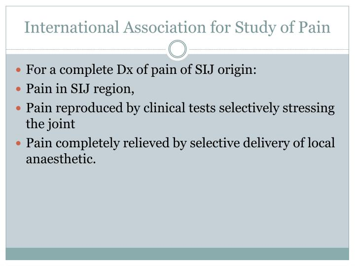 International Association for Study of Pain