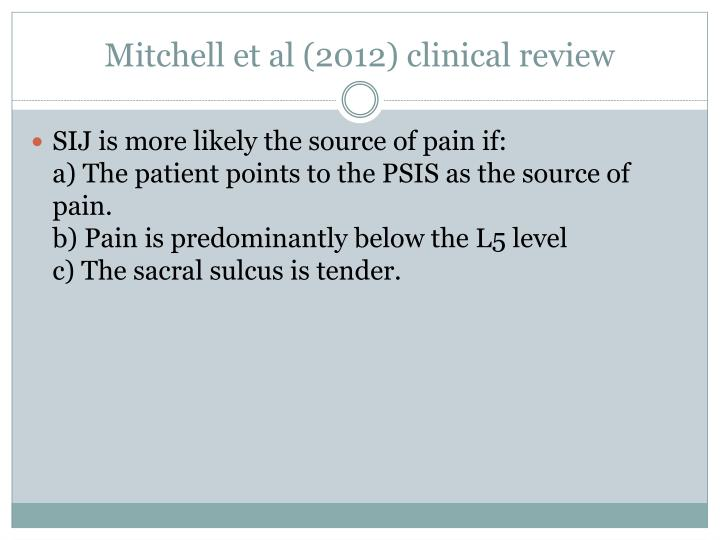 Mitchell et al (2012) clinical review