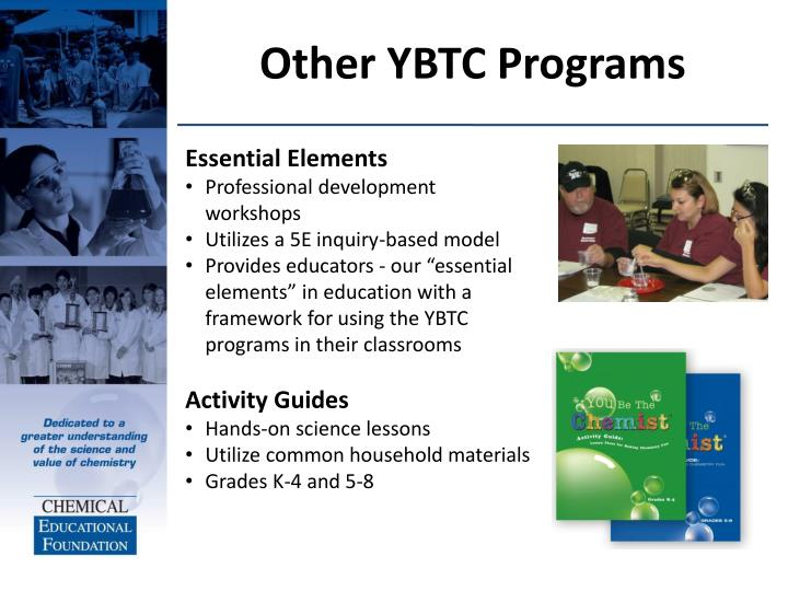 Other YBTC Programs
