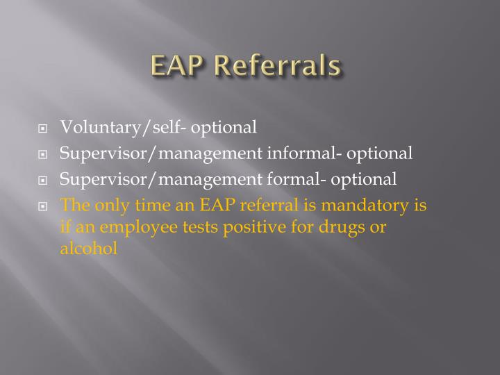 EAP Referrals