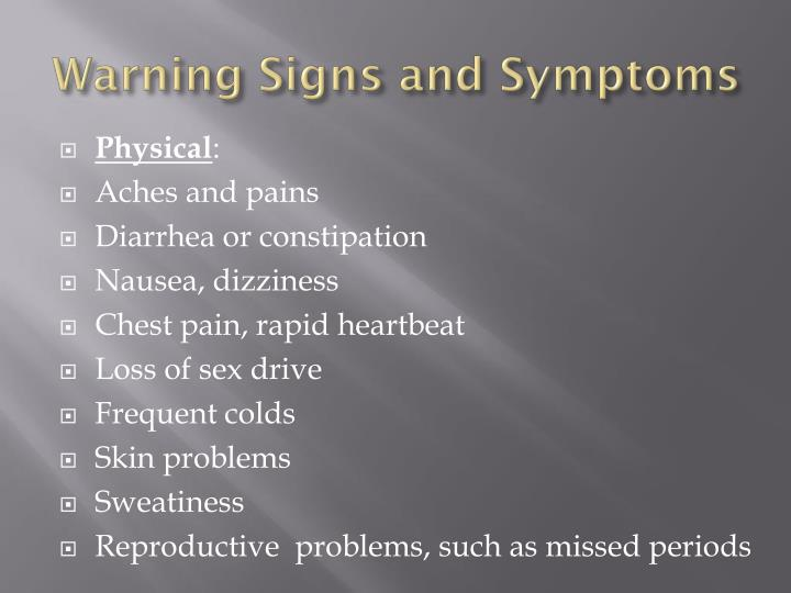 Warning Signs and Symptoms
