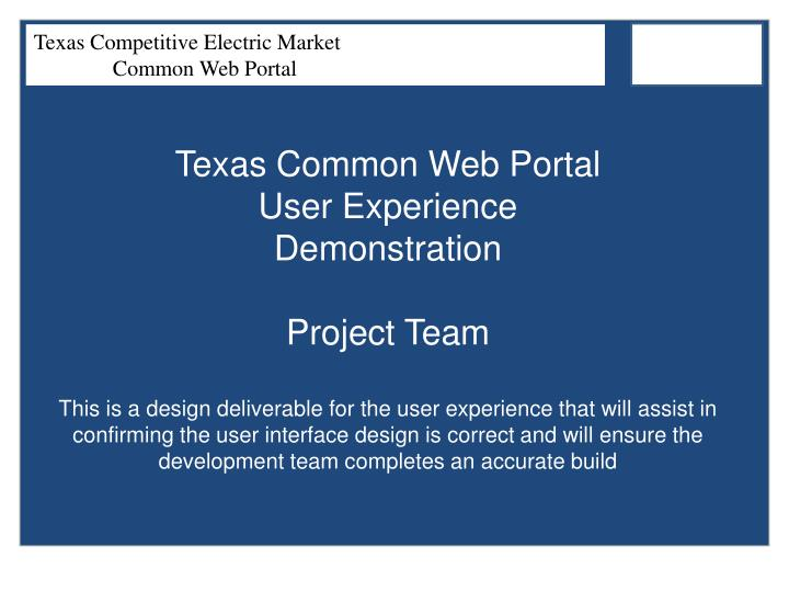 Texas Common Web Portal