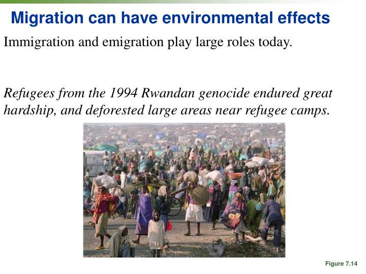 Migration can have environmental effects