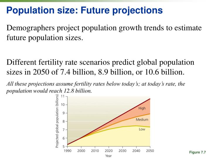 Population size: Future projections
