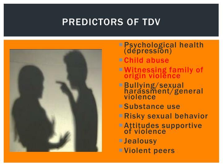 predictors of TDV