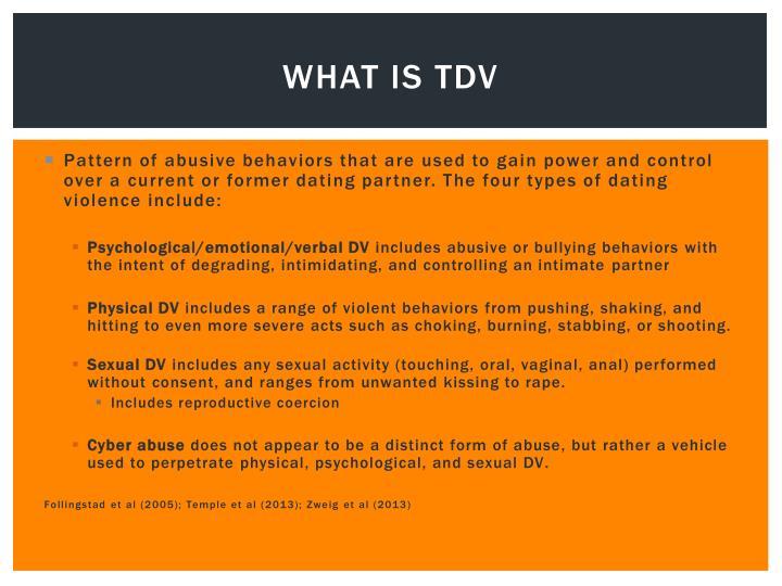 What is TDV