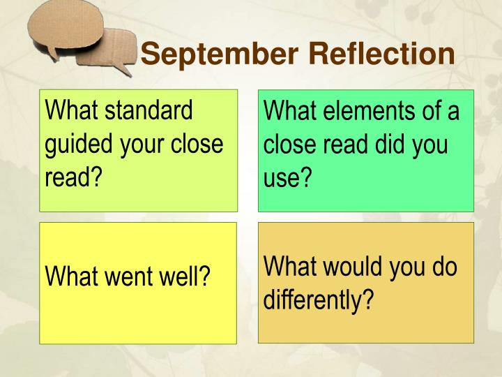 September reflection