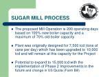 sugar mill process