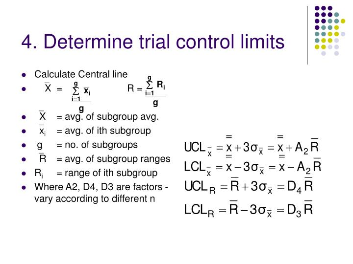 4. Determine trial control limits