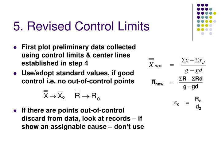 5. Revised Control Limits