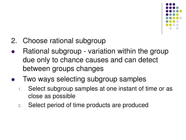 2.Choose rational subgroup