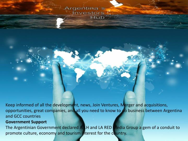Keep informed of all the development, news, Join Ventures, Merger and