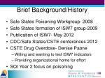 brief background history