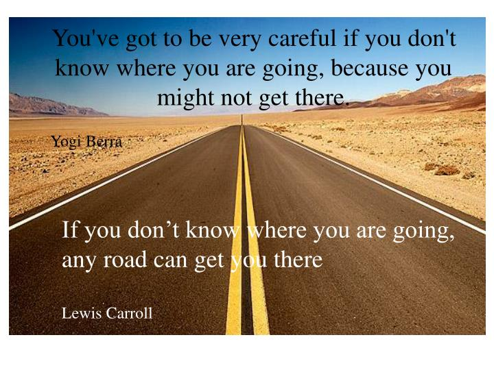 You've got to be very careful if you don't know where you are going, because you might not get there.