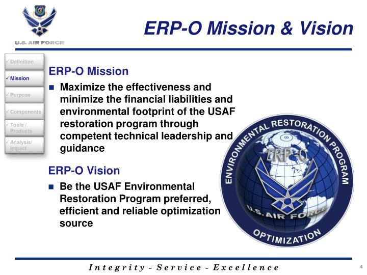 ERP-O Mission & Vision