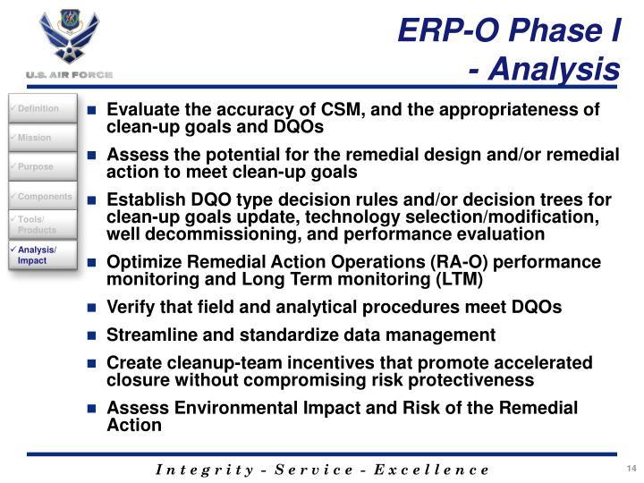 ERP-O Phase I