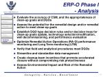 erp o phase i analysis