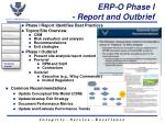 erp o phase i report and outbrief
