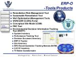 erp o tools products
