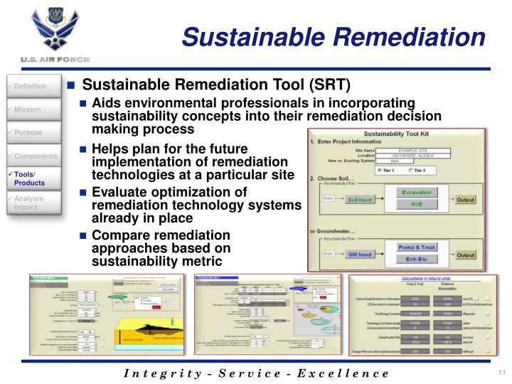 Sustainable Remediation