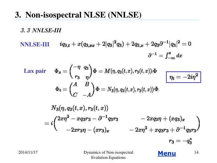 NNLSE-III