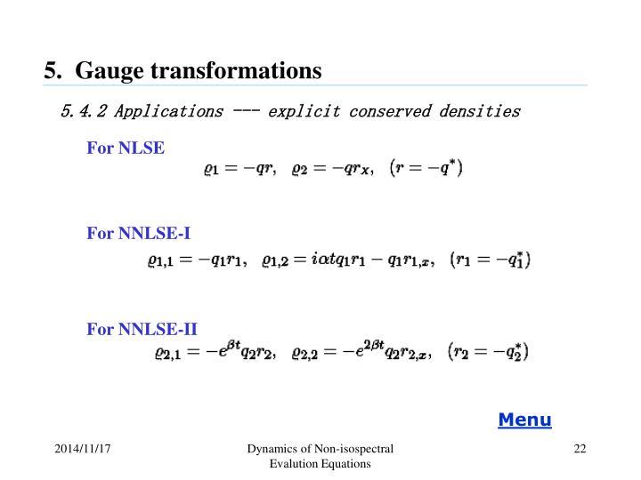 5.  Gauge transformations