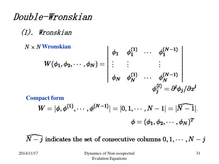 Wronskian