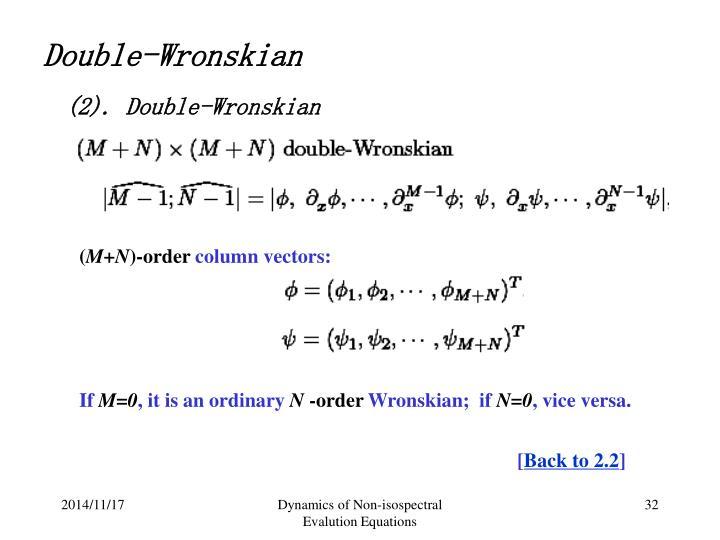 Double-Wronskian