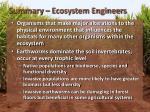summary ecosystem engineers