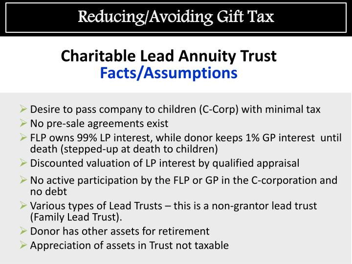 Reducing/Avoiding Gift Tax