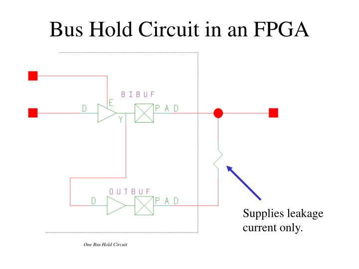 One Bus Hold Circuit