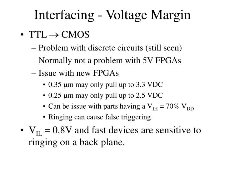 Interfacing - Voltage Margin