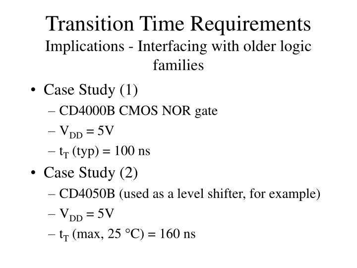 Transition Time Requirements