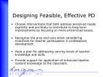 designing feasible effective pd