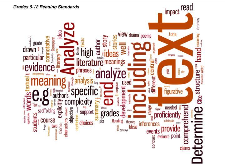 Grades 6-12 Reading Standards