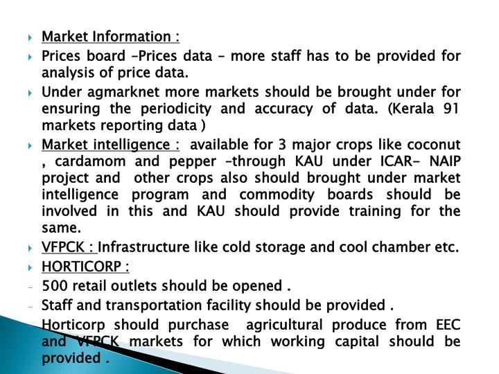 Market Information :