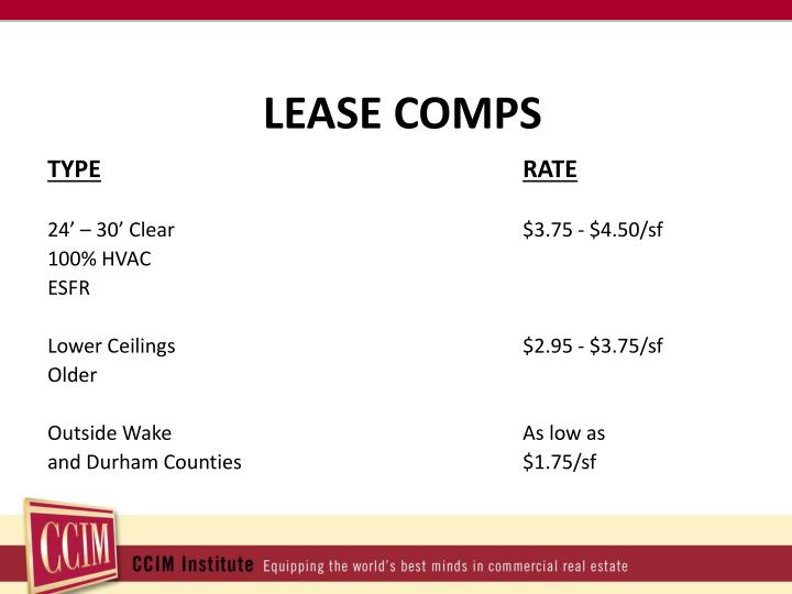 LEASE COMPS