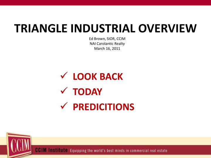 TRIANGLE INDUSTRIAL OVERVIEW