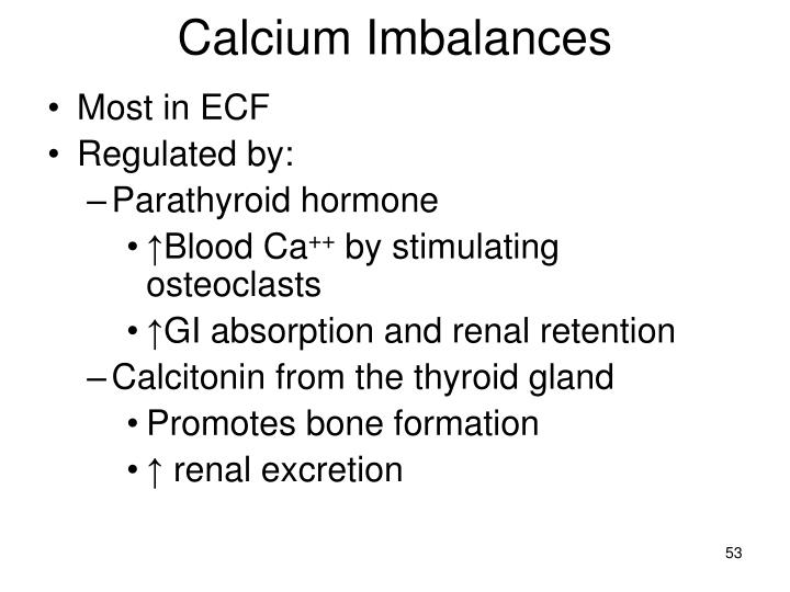 Calcium Imbalances