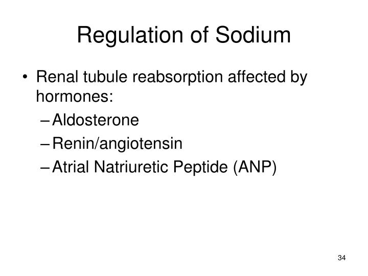Regulation of Sodium